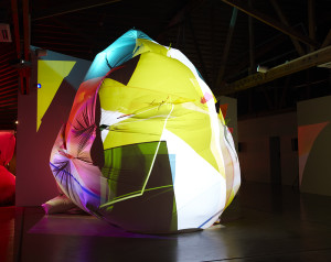 B15 with Claire Ashley | 2014 | PVC, Plexiglas, 3 Video Projections